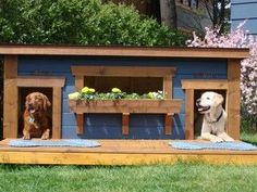Duplex dog house. My doggies will have one this year. - Tap the pin for the most adorable pawtastic fur baby apparel! You'll love the dog clothes and cat clothes! <3
