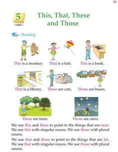 Grade Grammar This That These and Those English Grammar For Kids, Teaching English Grammar, English Lessons For Kids, English Worksheets For Kids, English Writing Skills, Learn English Words, English Reading, English Vocabulary, 2nd Grade Grammar