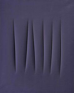 Lucio Fontana, Concetto spaziale, attese, 1965, bij González. Courtesy of Art Basel