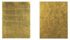 Mathias Goeritz_Mensaje metacromático1960 y Yves Klein, gold Monochrome 1960