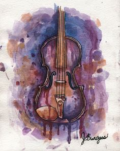 Cellos Violin Painting Watercolor Paintings Watercolor Artists Watercolour Music Wallpaper