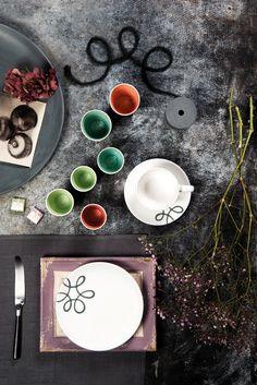 Gmundner Keramik Frisch und Fröhlich wirkt das handgefertigte Design Pur Geflammt Grau Pure Products, Design, Fresh, Handmade, Grey