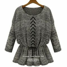 Black pullovers Solid regular sleeve long sleeve o-neck fashion long Vintage Sweaters