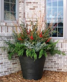 Winter Flower Garden Designs : Flower Pot Ideas On Pinterest Outdoor Fall  Flowers