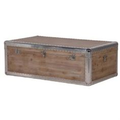 Alpine Chic Wood & Metal Coffee Table Trunk - I want this!