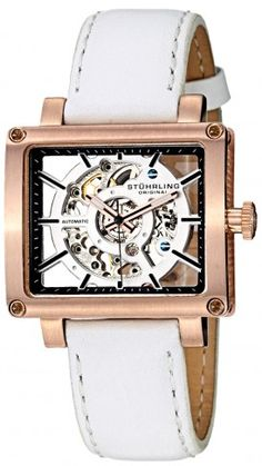 Stuhrling Original 258.334P2 Lady Axis Automatic Skeleton Watch For Women