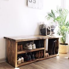 Shoe Rack Bench by geralynco on Etsy https://www.etsy.com/listing/507753451/shoe-rack-bench