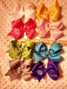 Hey, I found this really awesome Etsy listing at https://www.etsy.com/listing/184267736/monogrammed-hair-bow