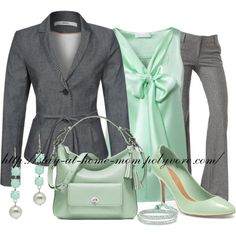 Mint & Grey - Work Outfit by stay-at-home-mom on Polyvore featuring мода, Mexx Metropolitan, Alice + Olivia, Coach and Joomi Lim