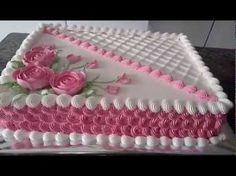 Cake Decorating Borders--Ruffle Borders Using 67 & 415 Tips Birthday Sheet Cakes, Birthday Cake, Beautiful Cakes, Amazing Cakes, Pastel Rectangular, Purple Drinks, Coconut Smoothie, Pumpkin Spice Cupcakes, Coconut Recipes