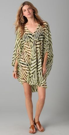 DVF silk chiffon cover up