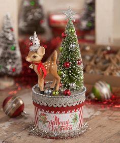 Retro Reindeer Box From Theholidaybarn Com Christmas Tree Themes Old Christmas Christmas Holidays