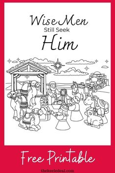 This free printable Wise Men Still Seek Him Christmas Coloring page is a great way to remember Christ this Christmas. New Year Coloring Pages, Quote Coloring Pages, Christmas Coloring Pages, Free Coloring Pages, Printable Coloring Pages, Christmas Colors, Diy Christmas Gifts, Christmas Projects, Christmas And New Year