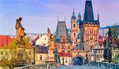 Discover Prague in Czech Republic, one of the best romantic destinations in Europe for a city break! Best hotels in Prague, Best tours and activities in Prague, Best things to do in Prague. Prague Tours, Prague Travel, Romantic Destinations, Europe Destinations, Bratislava, Tour Berlin, New Prague, Charles Bridge, Tourist Sites