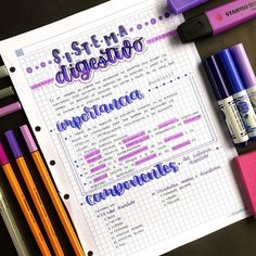 Pretty Notes, Cute Notes, Good Notes, School Organization Notes, School Notes, Bullet Journal School, Bullet Journal Ideas Pages, Studying Funny, Studyblr