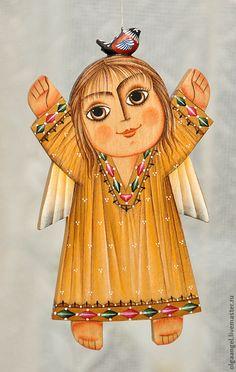 """Купить Ангел """"Умиление"""" - ангел, деревянный, подарки, Новый Год, рождество, Пасха, новорожденному"""