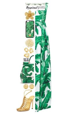"""Tropical Prints: Contest Entry"" by isquaglia ❤ liked on Polyvore featuring Dolce&Gabbana, Gucci, Carolina Bucci, Tiffany & Co., BaubleBar, African Botanics, tropicalprints and hottropics"