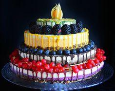 Raw vegan four layered cake 😊 Raw Desserts, Raw Vegan, Birthday Cake, Homemade, Instagram Posts, Food, Home Made, Birthday Cakes, Essen