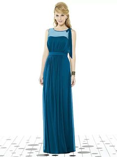 Dessy After Six 6714 Ocean Blue size 12