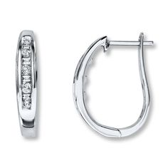 Kay - Diamond Earrings 1/4 ct tw Baguette-Cut 10K White Gold