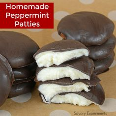 Cool and creamy, Homemade Peppermint Patties are so easy to make and can be customized to fit any holiday or event.