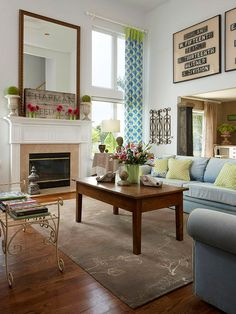 Old meets new in this charming living room. See the rest of this home here: http://www.bhg.com/decorating/decorating-style/flea-market/old-meets-new-flea-market-finds/?socsrc=bhgpin042212oldmeetsnew