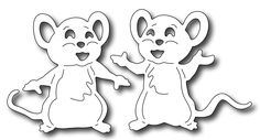 Frantic Stamper Precision Die - Cute Mice (set of 2 dies)-This set of 2 sweet mice are perfectly sized to match the Birthday Icons die and positioned to hold balloons, gifts and more. x and 2 x Frantic Stamper Kirigami, Animal Coloring Pages, Coloring Books, Christmas Tree Ornaments, Christmas Crafts, Birthday Icon, Animal Templates, Frantic Stamper, Cute Mouse