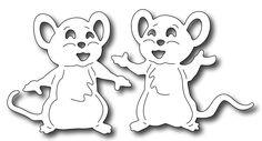 Frantic Stamper Precision Die - Cute Mice (set of 2 dies),$9.99