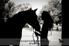 And this horse love began within one touch!