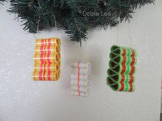 Ribbon Candy Fake Candy Realistic Handmade Holiday Christmas Faux Ribbon Candy Ornaments Hand Painted 4 - Imagine Out Loud