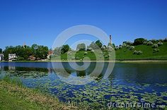 Small town Talsi in Latvia near the lake is situated at nine hills.It is in north eastern Europe