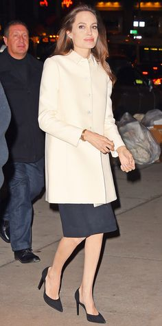 Look of the Day - December 6, 2014 - Angelina Jolie from #InStyle