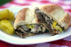 """""""Chicago"""" Italian Beef.  I have my Go To for this, since I can't just """"go to"""" Portillo's anymore....but it's always good to have options."""