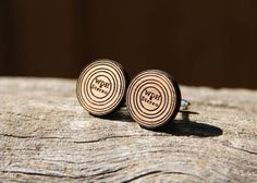 Personalized Handmade Vinyl Record LP Cufflinks - Wood | The most unique gifts come from Hatch.co