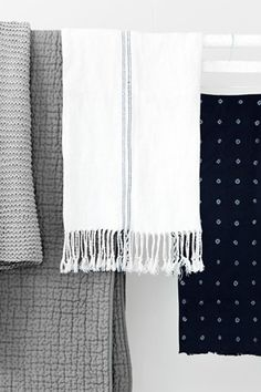 Ticking linen throw from french connections new home range