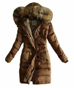 Moncler Coats Women Pure Color Hooded Fashion Khaki www.onlakemac.com