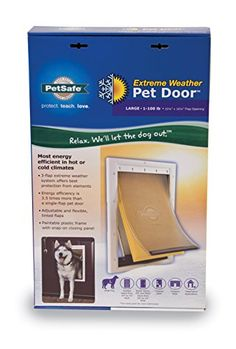 PetSafe Large Extreme Weather Pet Door, White  http://www.bestdiscountpetsupplies.com/petsafe-large-extreme-weather-pet-door-white/