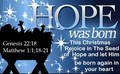 Good Morning from Trinity, TX  Today is Friday December 4, 2015   Day 338 on the 2015 Journey   Make It A Great Day, Everyday!   Rejoice in the Seed of Hope Jesus Christ  and let Him be born again in your heart this Christmas  Today's Scriptures:Genesis 22:18; Matthew 1:1;18-21 https://www.biblegateway.com/passage/?search=Genesis+22%3A18%3BMatthew+1%3A1%3B18-21&version=NKJV  In your seed all the nations of the earth shall be blessed...Insp Song https://youtu.be/Fok1h3p1sh8