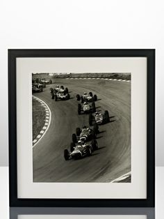 """""""Top Drivers"""" was photographed by the London Evening Standard on March and features Joakim Bonnier, Graham Hill, Jackie Stewart, John Surtees and Jack Brabham competing at Brands Hatch. This print was supplied by Getty Images. Jackie Stewart, Sports Car Racing, Classic Beauty, Baby Kids, Sculptures, Ralph Lauren, Wall Art, Frame, Holiday"""