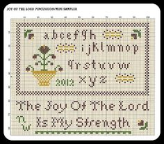 """free pattern ♥ -Nehemiah 8:10 """"...Do not grieve, for the joy of the Lord is your strength."""""""