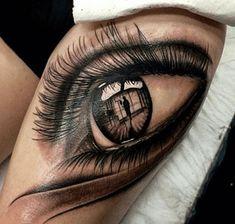 Resultado de imagen para tatuaje de ojos en realismo en el brazo