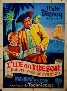 le trésor du guatemala affiche | ÎLE AU TRÉSOR / TREASURE ISLAND VF 1950 : Le…