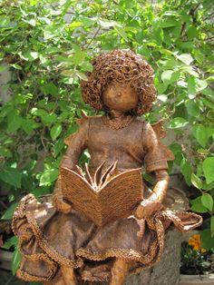'Jascelia Sitting Faerie Reading a Book' by Karen Williams