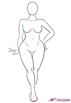 How to draw plus size fashion figure step 9 P.s. simple quest for everyone) Why…