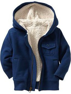 Sherpa-Lined Fleece Hoodies for Baby