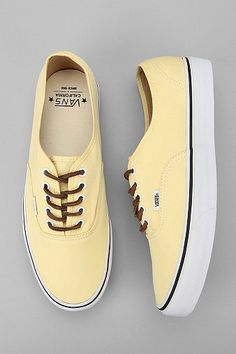 Yellow vans, if I were to get a pair, these would be the pair. So cute and fresh looking!