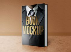 This set shows four perspectives of a book cover. The layered PSD (4000 × 3000…