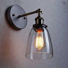 LIGHTESS ブラケットライト 北欧 ガラスライト レトロ 照明器具 アンティーク調 おしゃれ 玄関ライト 壁掛けライト ダウン型 E26口金 電球無し