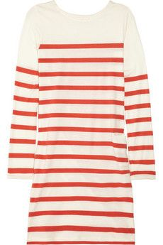 CHINTI AND PARKER  Striped organic cotton mini dress  $160