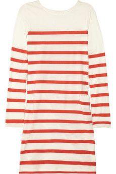 red striped organic cotton mini dress